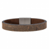Son of Noa 21cm Dark Brown Leather Bracelet (897 004)