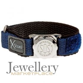 SOS Medical Bracelet Blue Velcro